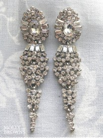 Vintage Diamante Large Drop Earrings