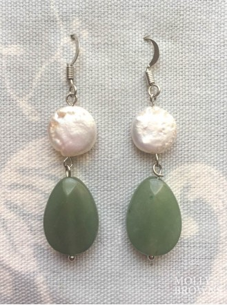 Green Crystal Drop Earrings