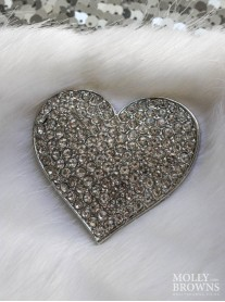 Diamante Heart Brooch