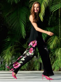 181671 Trousers - Black/Multi (Joseph Ribkoff)