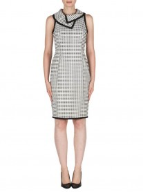 181775 Dress - Black/White (Joseph Ribkoff)
