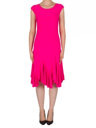 182004 Dress - Fuchsia Pink / Midnight Blue / Azure Blue  (Joseph Ribkoff)