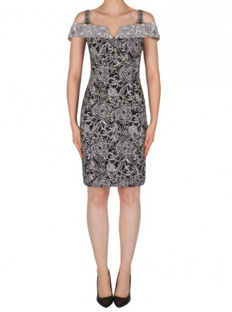182526 Dress - Black/White (Joseph Ribkoff)