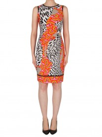 182676 Dress - Orange/Black (Joseph Ribkoff)