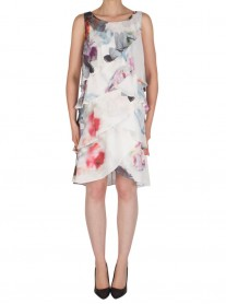 182859 Dress - White/Multi (Joseph Ribkoff)