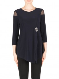 183211 Tunic - Midnight Blue (Joseph Ribkoff)