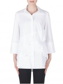 183425 Blouse - White / Black (Joseph Ribkoff)