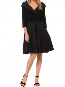 183447 Dress - Midnight Blue/ Black  (Joseph Ribkoff)