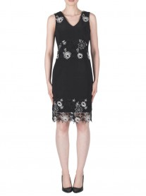 183491 Dress - Black/White (Joseph Ribkoff)
