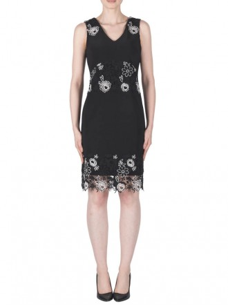 183491 Dress - Black & White (Joseph Ribkoff)