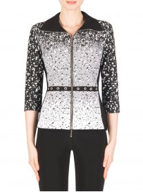 183540 Jacket - Black/White (Joseph Ribkoff)