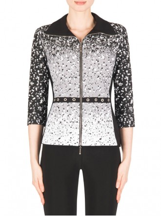 183540 Jacket - Black & White (Joseph Ribkoff)