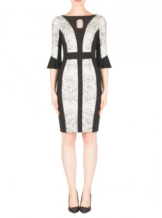 183568 Dress - Black/Ivory (Joseph Ribkoff)