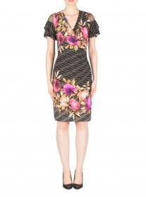183614 Dress - Black/Multi (Joseph Ribkoff)