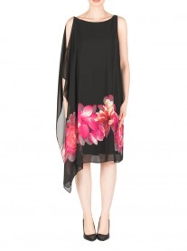 183700 Dress - Black/Pink (Joseph Ribkoff)