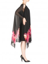 183700 Dress - Black & Pink (Joseph Ribkoff)