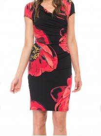184670 Dress - Black/Red (Joseph Ribkoff)