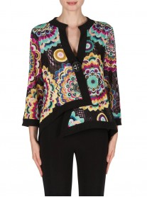 181588 Jacket - Black/Multi (Joseph Ribkoff)