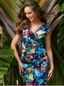 181716 Dress - Blue/Multi (Joseph Ribkoff)