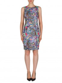 181736 Dress - Blue/Multi (Joseph Ribkoff)