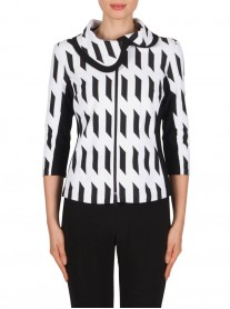 181892 Jacket - Black/White (Joseph Ribkoff)