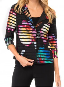184659 - Black/Multi Jacket (Joseph Ribkoff)