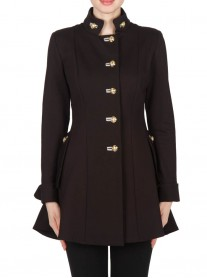173308 Coat - Black / Light Grey (Joseph Ribkoff)