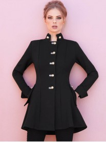 173308 Coat - Black (Joseph Ribkoff)