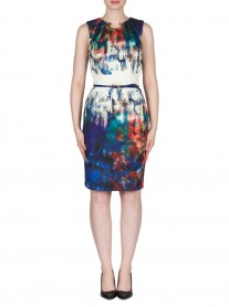 173319 Dress - Royal Blue / Multi (Joseph Ribkoff)