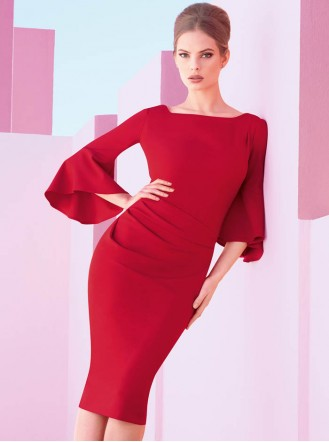 173411 Dress - Lipstick Red (Joseph Ribkoff)