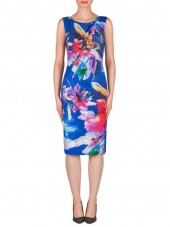 183751 Dress - Blue/Multi (Joseph Ribkoff)