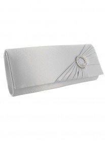 Nara - Light Grey/Silver Clutch Bag (Lexus)