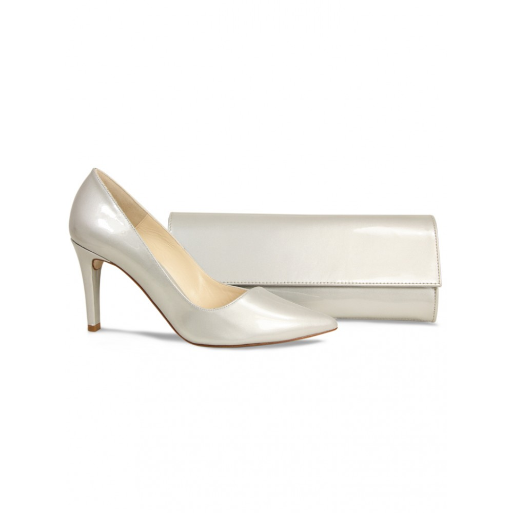 Marilyn Silver Patent Occasion Heels - Lisa Kay Shoes by Molly Browns