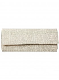 Mary - Taupe Croc Clutch Bag (Lisa Kay)