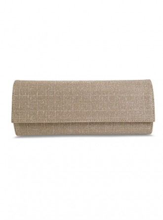 Mary - Taupe Glitter Clutch Bag (Lisa Kay)