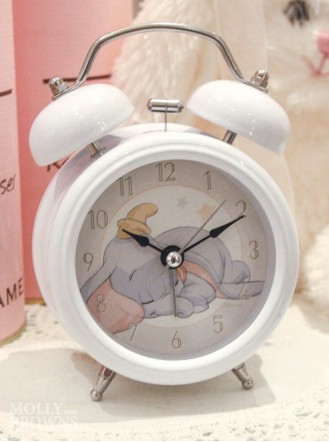 Children's Alarm Clock - Elephant (White)