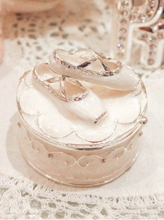 Ballet Slipper Trinket Box (Ivory)