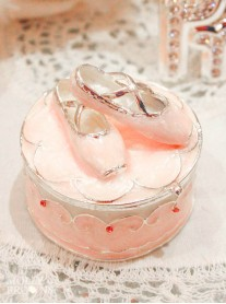 Ballet Slipper Trinket Box (Pink)