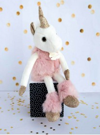 Glittery Unicorn - Pink (Histoire D'Ours)