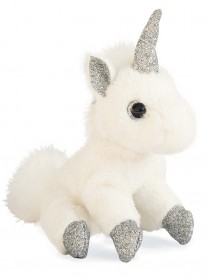 Small Unicorn Keyring - Silver Glitter (Histoire D'Ours)