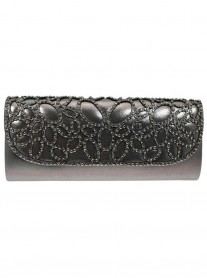 Ace Pewter Clutch Bag (Lunar)