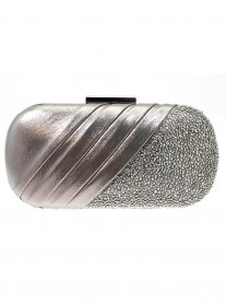 Carlton Pewter Clutch Bag (Lunar)