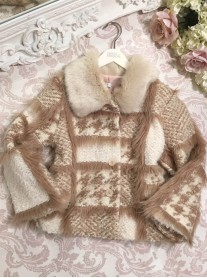 Faux Fur Pattern Coat