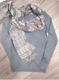 Embellished Collar Jumper - Grey