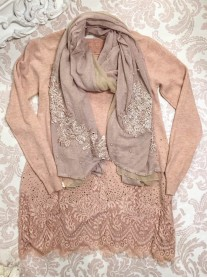 Lace Patterned Top - Blush