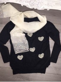 Heart Of Pearls Jumper - Black