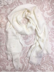 Pearl Scarf - Ivory