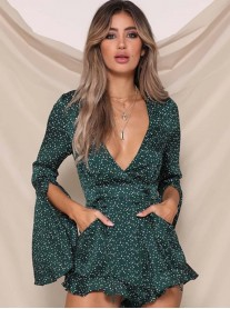 Your A Gem Playsuit - Emerald (Runaway The Label)