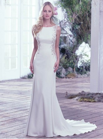 Andie 6MS768 - Ivory/Pewter (Maggie Sottero)