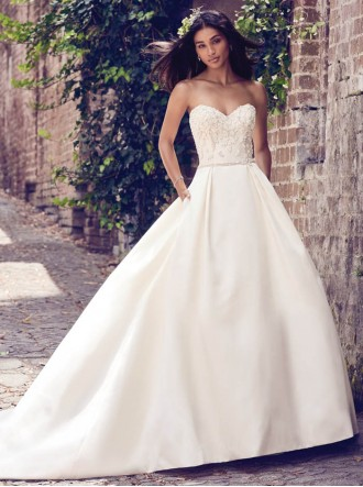 Giselle 8MN506 - Antique Ivory/Pewter (Maggie Sottero)
